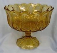 Fairfield Open Compote Amber Glass Anchor Hocking Vintage Retro Mid Century
