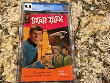 STAR TREK #1 CGC 9.0 RARE WHITE PAGES HUGE LOW POPULATION IN HIGH END GOLD KEY