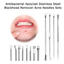 4Pc/set Face Skin Care Blackhead Blemish Acne Pimple Extractor Remover Kit Tool