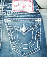 *HOT AUTHENTIC Men TRUE RELIGION @ JOEY SUPER T FLARE BOOTCUT Denim Jeans 28 x32