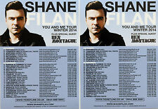 2 X SHANE FILAN WESTLIFE WINTER 2014 YOU & ME TOUR FLYERS.