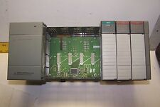 ALLEN BRADLEY 1746-A7 1746-P2 7 SLOT RACK & POWER SUPPLY 1746-NI4 1746-IA16 OA16