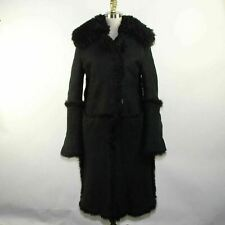 GUCCI Ladies Black Genuine Shearling Coat Size 6/ IT 42