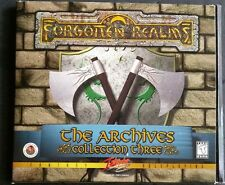 Forgotten Realms: The Archives Collection 3 PC CD Windows 95/98 3 Disc Set