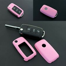 VW Car Remote Flip Key Cover Case Skin Shell Cap Fob Protection ABS PINK 2010-