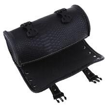 Leather Motorcycle Luggage Windshield Tool Kit Bag Riding/Storage Bag Black