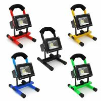 Portable Hi Power 10/20/30/50W LED Work Rechargeable Flood Light White Camping