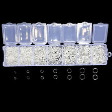 1500Pcs/Box Mixed Silver Open Split Jump Rings Connector Jewelry Findings DIY CE