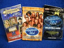 American Idol Stars & POP Cards TRADING CARD PACK LOT of 3