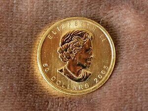 2005 1 Oz. gold Maple Leaf, uncirculated