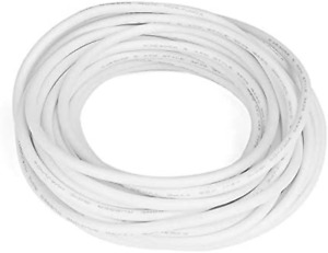 Electric Copper Core Flexible Silicone Wire Cable White 10M 32.8Ft 18AWG 10-30KV