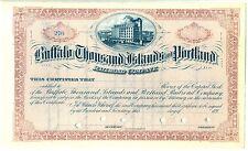 Buffalo Thousand Islands & Portland Railroad Company Stock Certificate