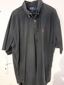 Chemise Noir manche courte Ralph Lauren L