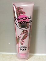 Victoria's Secret BRONZED COCONUT Lotion PINK 8 oz Nearly Full