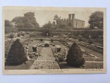 London England Hampton Court Palace Tudor Garden Uk Black White Postcard A12