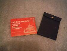 honda  vt500 vt 500 ascot   genuine original owner manual