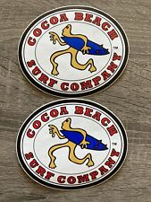 Lot Of 2 Cocoa Beach Surf Company Surf Shop Sticker/Decals RonJon Surf Shop New