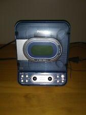 Philips AJ3977 CD Player AM FM Radio Dual Alarm Clock BLUE