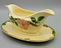 True Vintage Franciscan Desert Rose Gravy Boat Attached Under Plate California