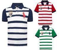 Kids Boys Ralph Lauren Polo Short Sleeves Striped Crest Logo T.Shirt 3 to 20YRS