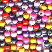 MIRACLE BEADS COLOR MIX 4MM 6 COLORS MIX LARGE LOT 1/2 KG 11500 BEADS MBX3