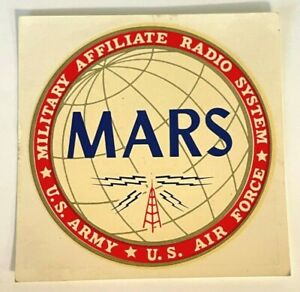 MARS Military Affiliate Radio System U.S. Army, U.S. Air Force Window Sign