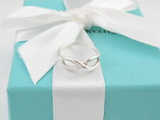 AUTHENTIC TIFFANY & CO SILVER INFINITY RING SIZE 8 BOX INCLUDED
