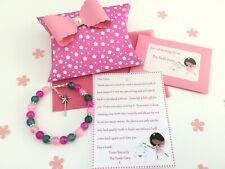 Personalised Tooth Fairy Letter, Bracelet, Gift Box, First Tooth, New Design