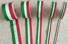 NASTRO TRICOLORE 8-12-18-28-36 mm - qualità superiore Manubens - 100% poliestere