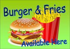 Amerikanischer Retro-stil Diner-zeichen Café-schild Burger & Pommes
