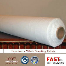 "White Sheeting Fabric Poly Cotton Sheeting Fabric 94""/240cm Wide / Per Meter"
