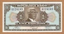 "1973 (Nd) Haiti Banknote 1 Gourde ""Q"" - Pick# 210 - Crisp Unc ."