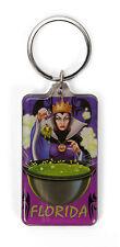 Disney Villains Florida Evil Queen Lucite Keychain