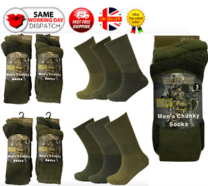 Mens Army Military Combat Boots Hiking Padded Thermal Warm Thick Socks Size 6-11