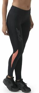 Sub Sports Dual Womens Training Tights Black Compression Gym Running Workout