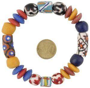 Glass Beads African powder glass trade beads Krobo Ghana recycled bracelet new