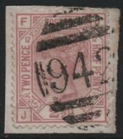 CYPRUS: 1878-1880 Sg Z18 2½d Mauve Plate 12 on Piece Used in Larnaca (19623)