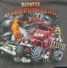 Red Neck Redneck Firefighting T Shirt Size XL..FREE SHIPPING