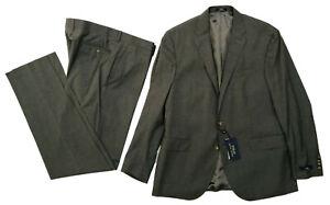 "Ralph Lauren Heather Grey Single Breasted Suit 46"" Chest 37"" Waist Mens RRP£495"