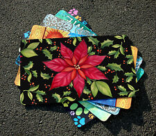 NEW Toland - Poinsettia - Decorative Christmas Flower Berries Door Standard Mat