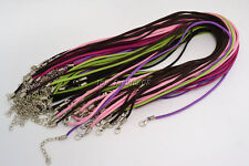 100pcs Mixed Suede Leather String Necklace Cord Jewelry Making 47cm DIY FREE
