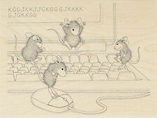 Computer Mice HOUSE MOUSE Wood Mounted Rubber Stamp STAMPENDOUS, NEW - HMR52
