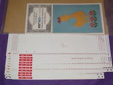 KNITTING MACHINE ACCESSORY'S PUNCH CARDS FOR STANDARD GAUGE MACHINES SERIES 60
