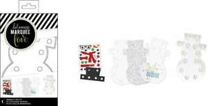 American Crafts 312327 Snowflake Heidi Swapp Marquee Shapes Kit Snowman