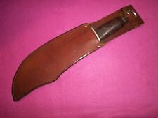 Nice WWII War Era Large Fighting Side Knife W/Sheath Used Exc.