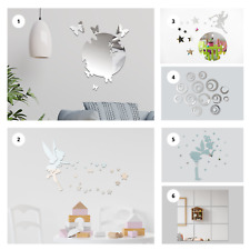 3D Acrylic Mirror Wall Sticker Removable Decal Art Mural Home Room Decor