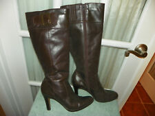HAROLDS Brown Leather Tall Fashion Boots Women's size 7.5 M