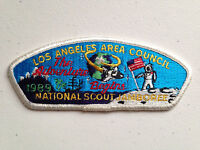 LOS ANGELES AREA COUNCIL SCOUT PATCH NATIONAL JAMBOREE 1989 WHITE BORDER