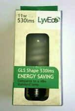 4 pack LyvEco 11W Bulb Lamp Energy Saving Fluorescant GLS Shape 530 Lumens