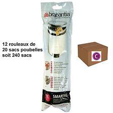 """BRABANTIA LOT 240 SACS POUBELLES  """"C""""   pour poubelle 12 litres"""